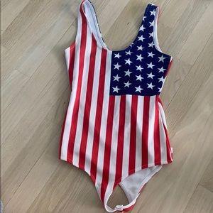 Tobi American flag body suit